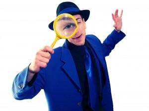 Magicien Monsieur Bleu Loupe